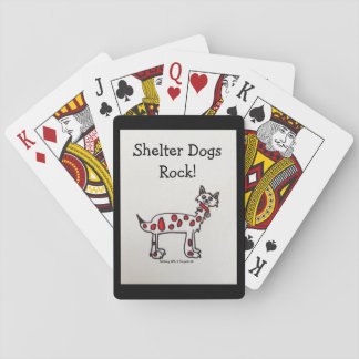 """Shelter Dogs Rock"" Playing Cards"