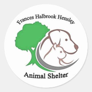 Shelter Logo Classic Round Sticker