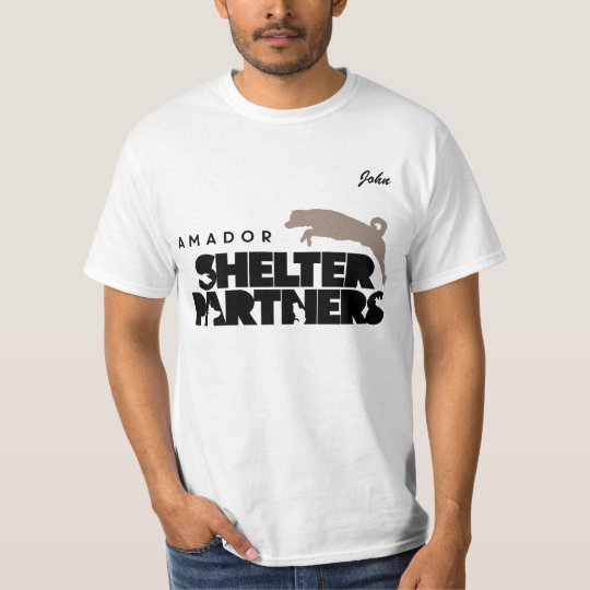 SHELTER Partners Logo Apparel Custom Name T-Shirt