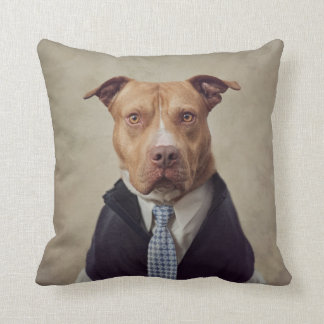 Shelter Pets Project - General Patton Throw Pillow