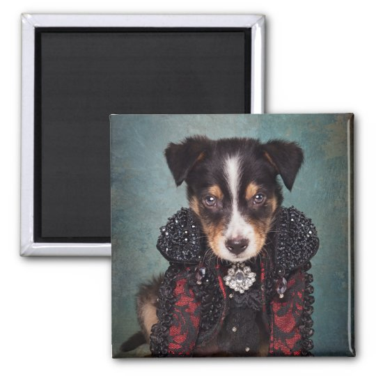 Shelter Pets Project - Loki (Red) Square Magnet