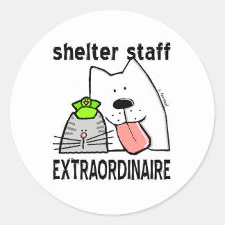 Shelter Staff Extraordinaire Round Sticker