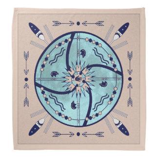 Sheltering Moon Mandala Native Symbols Bandana