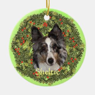 Sheltie Art Christmas Ornament