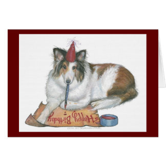 Sheltie Birthday Card