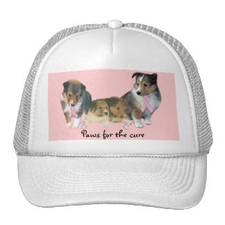 Sheltie Breast Cancer Hat