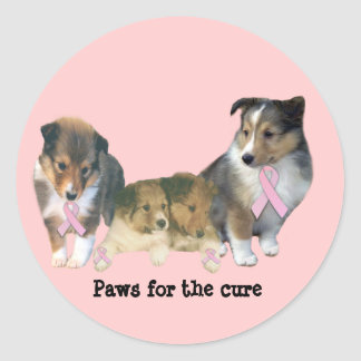 Sheltie Breast Cancer Sticker