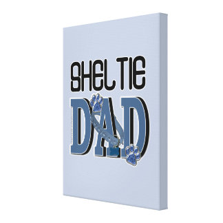 Sheltie DAD Gallery Wrapped Canvas