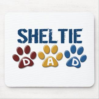 SHELTIE Dad Paw Print 1 Mouse Mat