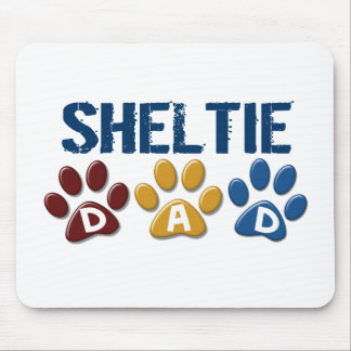 SHELTIE Dad Paw Print 1 Mouse Pad