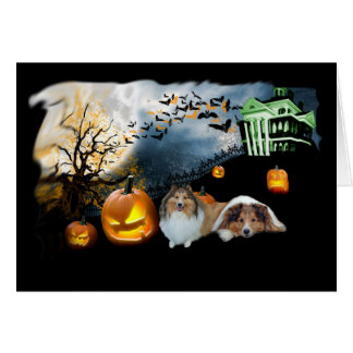 Sheltie Halloween Greeting Card