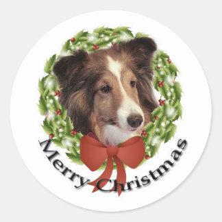 Sheltie Holiday #2 Sticker