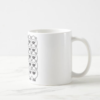 Sheltie in the Sheep Basic White Mug