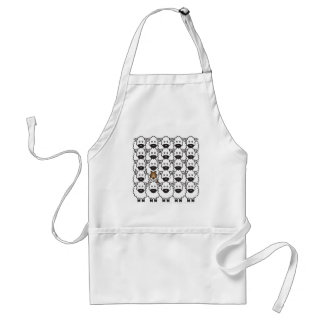 Sheltie in the Sheep Standard Apron