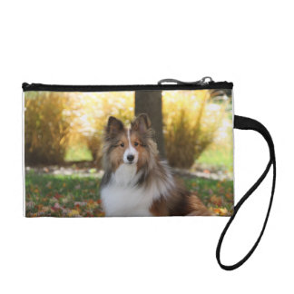 Sheltie Key Coin Clutch Coin Purses