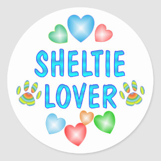 SHELTIE LOVER CLASSIC ROUND STICKER