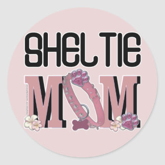 Sheltie MOM Classic Round Sticker