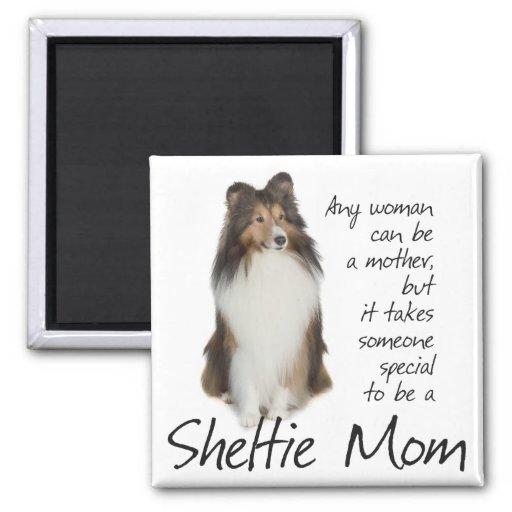 Sheltie Mom Magnet Fridge Magnets