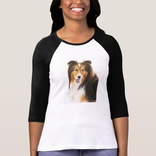Sheltie or Shetland Sheepdog Painting T-Shirt