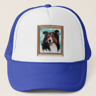 Sheltie Painting Hat Designs
