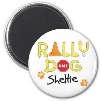 Sheltie Rally Dog 6 Cm Round Magnet