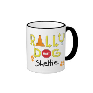 Sheltie Rally Dog Coffee Mug