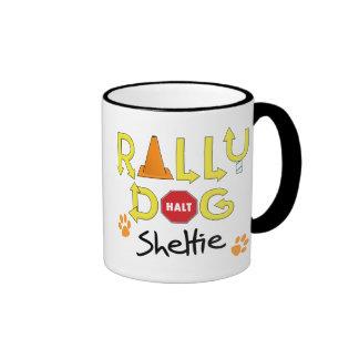 Sheltie Rally Dog Ringer Mug