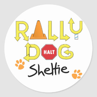 Sheltie Rally Dog Round Sticker