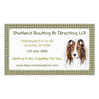 Sheltie Shetland Sheepdog Bust Business Card Templates