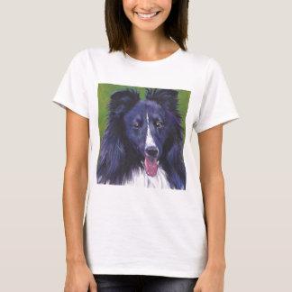 Sheltie Shetland Sheepdog fine art dog painting T-Shirt