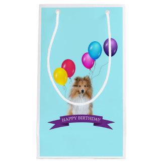Sheltie Shetland Sheepdog Happy Birthday Gift Bag
