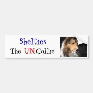 Shelties The UN Collie bumper sticker