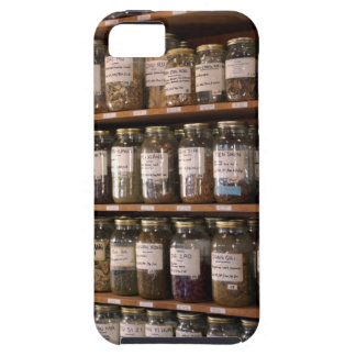 Shelves of herb jars iPhone 5 cases