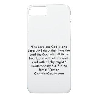 shema Deuteronomy 6:4-5 Bible Scripture iPhone 8/7 Case