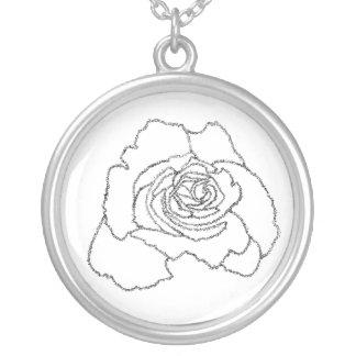 Shema Rose Dalet Round Pendant Necklace