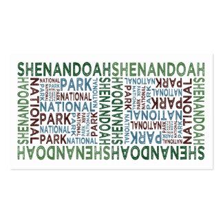 Shenandoah National Park Business Card Template