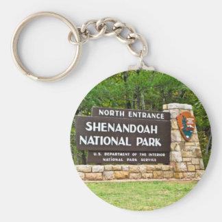 Shenandoah National Park North Entrance Sign Key Ring