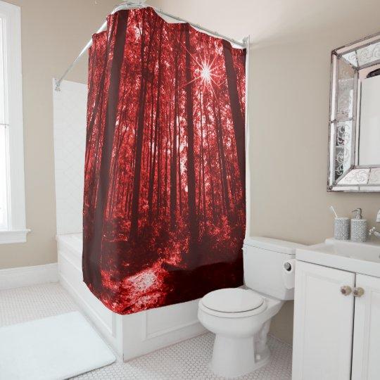 Shenandoah Red Shower Curtain