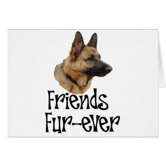 "sheperd ""Friends Fur-ever"" Greeting Card"