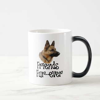 "sheperd ""Friends Fur-ever"" Morphing Mug"