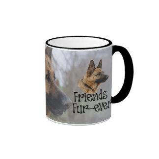 "sheperd ""Friends Fur more ever"" conversion cup Ringer Mug"