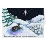 Shepherd dog Christmas card