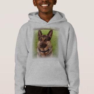 Shepherd Dog Kid's Hooded Sweatshirt