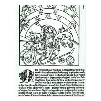 Shepherd under Sun, Moon and Stars Post Cards