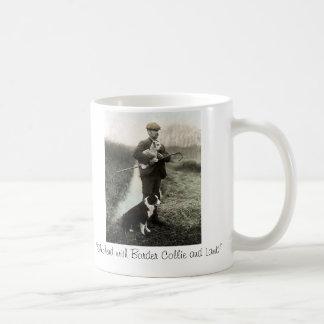 """""""Shepherd With Border Collie and Lamb""""~Mug Coffee Mug"""