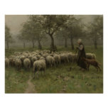 Shepherdess with a Flock of Sheep, Anton Mauve