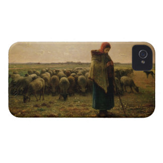 Shepherdess with her Flock, 1863 iPhone 4 Case-Mate Case