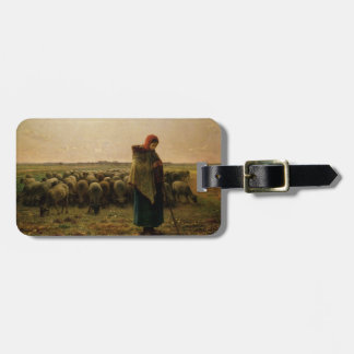 Shepherdess with her Flock, 1863 Luggage Tag
