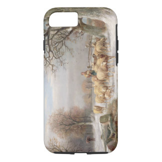 Shepherdess with her Flock in a Winter Landscape ( iPhone 8/7 Case