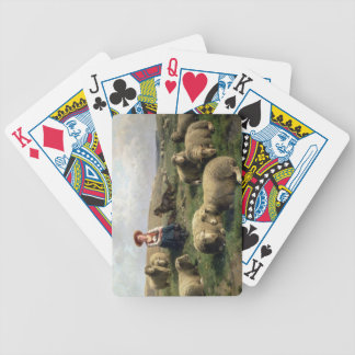 Shepherdess with Sheep in a Landscape Bicycle Playing Cards